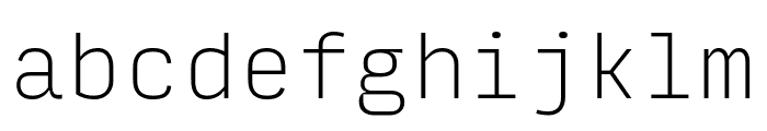 Input Mono Compressed Thin Font LOWERCASE