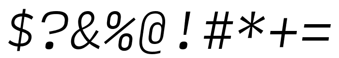 Input Mono Condensed Extra Light Italic Font OTHER CHARS