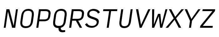 Input Mono Condensed Light Italic Font UPPERCASE