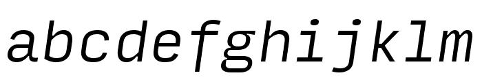 Input Mono Condensed Light Italic Font LOWERCASE