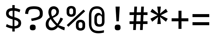 Input Mono Condensed Regular Font OTHER CHARS
