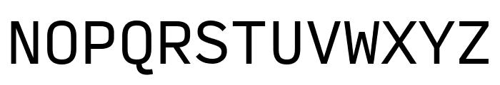 Input Mono Condensed Regular Font UPPERCASE