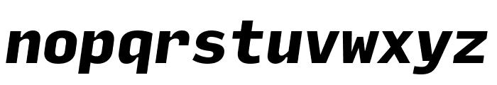 Input Mono Narrow Black Italic Font LOWERCASE