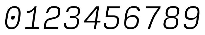 Input Mono Narrow Extra Light Italic Font OTHER CHARS