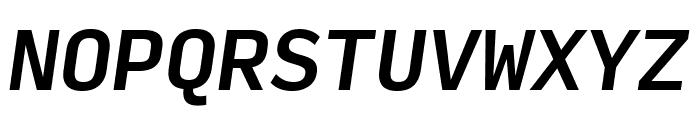 Input Mono Narrow Medium Italic Font UPPERCASE