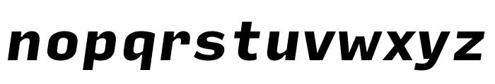 Input Sans Black Italic Font LOWERCASE