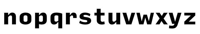 Input Sans Compressed Black Font LOWERCASE