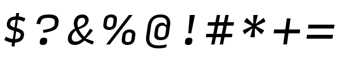 Input Sans Compressed Italic Font OTHER CHARS