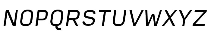 Input Sans Condensed Italic Font UPPERCASE