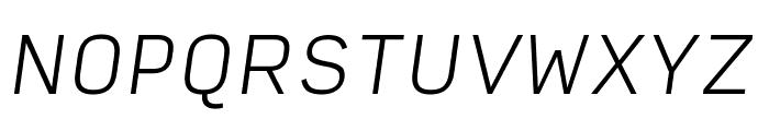Input Sans Extra Light Italic Font UPPERCASE