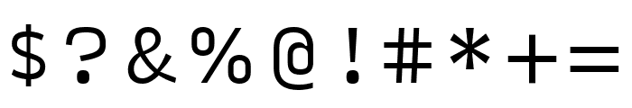 Input Sans Light Font OTHER CHARS