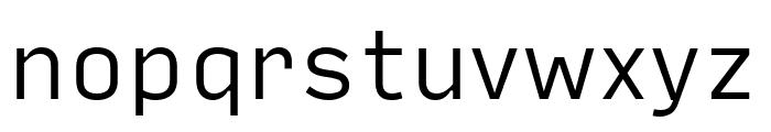 Input Sans Light Font LOWERCASE