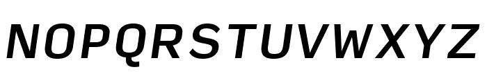 Input Sans Medium Italic Font UPPERCASE