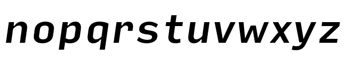 Input Sans Medium Italic Font LOWERCASE