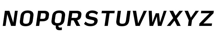 Input Sans Narrow Bold Italic Font UPPERCASE