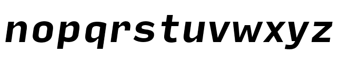 Input Sans Narrow Bold Italic Font LOWERCASE
