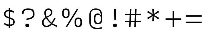 Input Sans Narrow Extra Light Font OTHER CHARS
