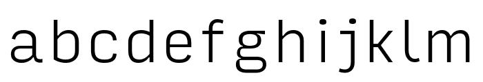 Input Sans Narrow Extra Light Font LOWERCASE