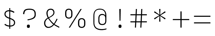 Input Sans Narrow Thin Font OTHER CHARS