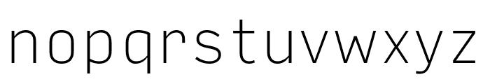 Input Sans Narrow Thin Font LOWERCASE