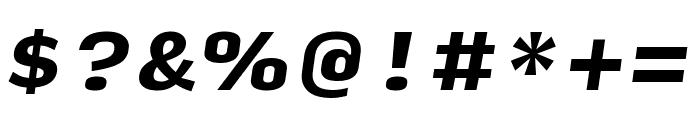 Input Serif Compressed Black Italic Font OTHER CHARS