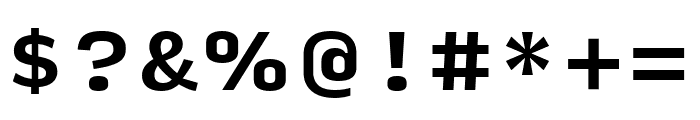 Input Serif Compressed Bold Font OTHER CHARS
