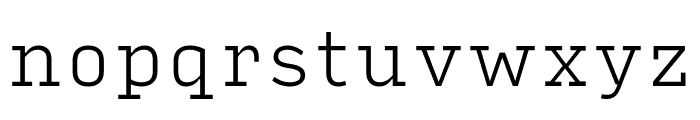 Input Serif Compressed Extra Light Font LOWERCASE