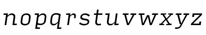 Input Serif Compressed Light Italic Font LOWERCASE