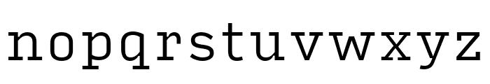 Input Serif Compressed Light Font LOWERCASE