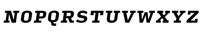 Input Serif Condensed Black Italic Font UPPERCASE