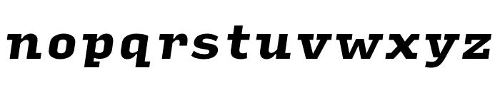 Input Serif Condensed Black Italic Font LOWERCASE