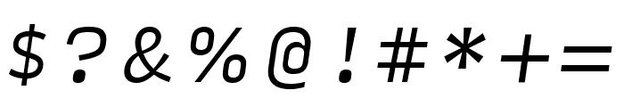 Input Serif Condensed Light Italic Font OTHER CHARS