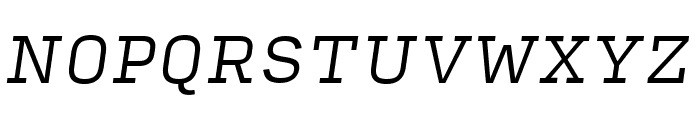 Input Serif Condensed Light Italic Font UPPERCASE
