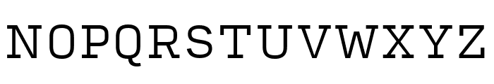 Input Serif Condensed Light Font UPPERCASE