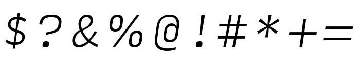 Input Serif Extra Light Italic Font OTHER CHARS