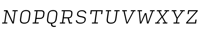 Input Serif Extra Light Italic Font UPPERCASE