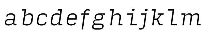 Input Serif Extra Light Italic Font LOWERCASE