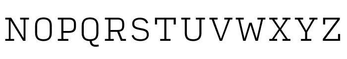 Input Serif Extra Light Font UPPERCASE