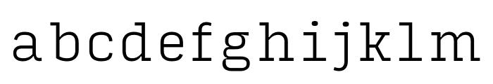 Input Serif Extra Light Font LOWERCASE
