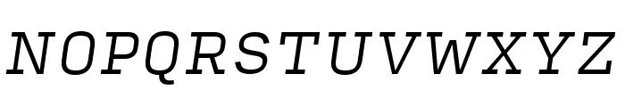 Input Serif Light Italic Font UPPERCASE
