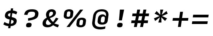 Input Serif Medium Italic Font OTHER CHARS