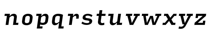 Input Serif Narrow Medium Italic Font LOWERCASE