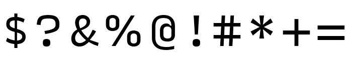 Input Serif Regular Font OTHER CHARS