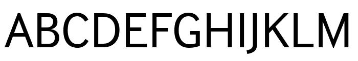 InterFace Regular Font UPPERCASE
