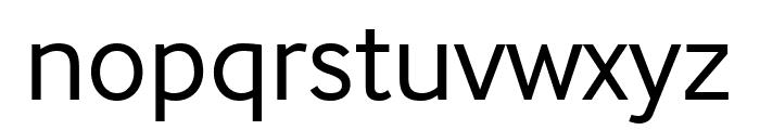 InterFace Regular Font LOWERCASE