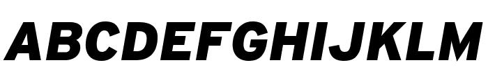 Interstate Black Italic Font UPPERCASE