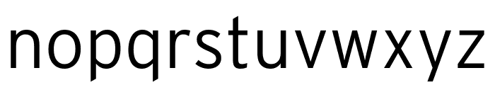 Interstate Compressed Light Font LOWERCASE
