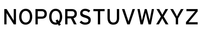 Interstate Compressed Regular Font UPPERCASE