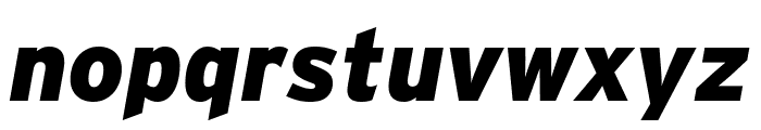 Interstate Condensed Black Italic Font LOWERCASE