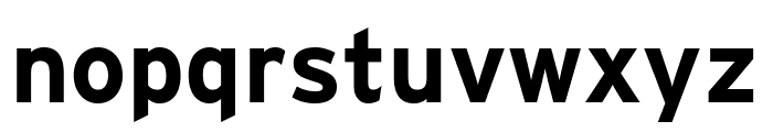 Interstate Condensed Bold Font LOWERCASE